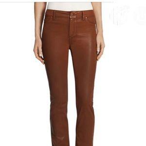 Chico's Platinum denim brown coated jeans